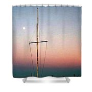 The Mast, Sag Harbor Shower Curtain