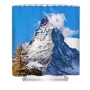 The Matterhorn Mountain Shower Curtain