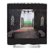 The Mausoleum Shower Curtain