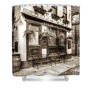 The Mayflower Pub London Vintage Shower Curtain