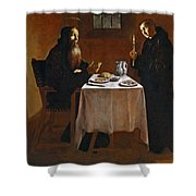 The Meal Of Saint Benedict Of Nurcia Shower Curtain