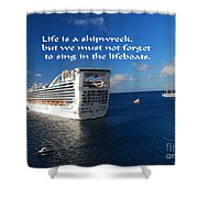 The Meaning Of Life Shower Curtain