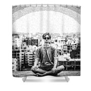 The Meditating Youth Shower Curtain