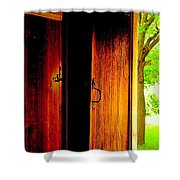 The Meeting House Door Shower Curtain