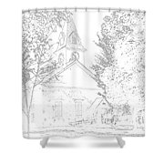 The Meeting House Shower Curtain