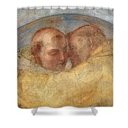 The Meeting Of St Francis And St Dominic  Shower Curtain