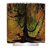 The Melting Tree Shower Curtain