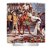 The Merchants Of Calicut, India, Held Shower Curtain