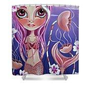 The Mermaid's Garden Shower Curtain