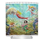 The Mermaids Of Weeki Wachee State Park Shower Curtain