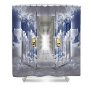 The Message Shower Curtain