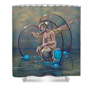 The Metamorphosis Of Gaia Shower Curtain