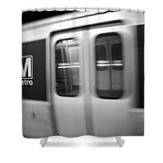 The Metro Is The Subway Train Shower Curtain