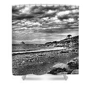 The Mewstone, Wembury Bay, Devon #view Shower Curtain