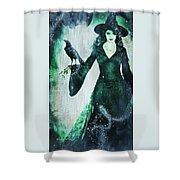 The Midnight Garden Witch Shower Curtain