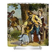 The Midnight Ride Of Paul Revere 1775 Shower Curtain by Photo Researchers