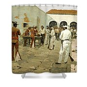 The Mier Expedition-the Drawing Of The Black Bean Shower Curtain