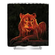 The Mighty Lion Shower Curtain