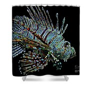 The Mighty Lion Fish Shower Curtain