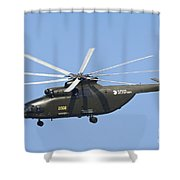 The Mil Mi-26 Cargo Helicopter Shower Curtain