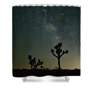 The Milky Way And Joshua Trees Shower Curtain