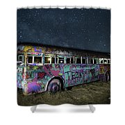 The Milky Way Bus Shower Curtain