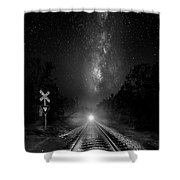 The Milky Way Express Shower Curtain