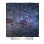 The Milky Way Through Carina And Crux Shower Curtain