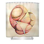 The Millenium Stone Shower Curtain