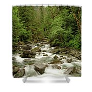 The Miller River  Shower Curtain