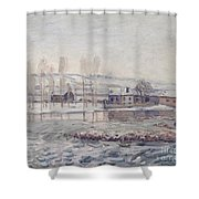 The Mills At Moret Shower Curtain