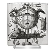 The Minerva Balloon Designed By  Tienne Shower Curtain