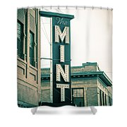 The Mint Classic Neon Sign Livingston Montana Shower Curtain