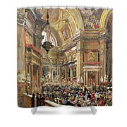 The Miracle Of The Liquefaction Of The Blood Of Saint Januarius Shower Curtain