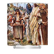 The Miracle Of The Loaves And Fishes Shower Curtain