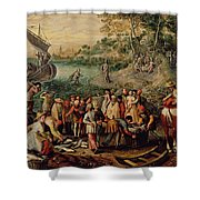 The Miraculous Draught Of Fishes Shower Curtain