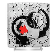 The Missing Puzzle Piece Shower Curtain