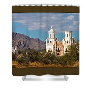 The Mission And The Mountains Shower Curtain