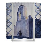 The Mission In Evening Shadow Shower Curtain