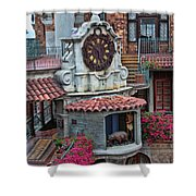 The Mission Inn Clock Tower Shower Curtain