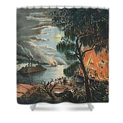 The Mississippi In Time Of War, 1865  Shower Curtain