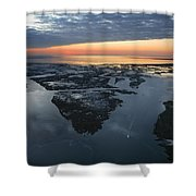 The Mississippi River Gulf Outlet Shower Curtain
