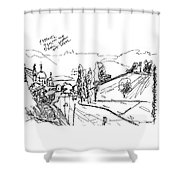 The Mist At The River Oka. 1 Septemper, 2015 Shower Curtain