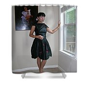 The Model And The Painting Shower Curtain