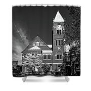 The Monongalia County Courthouse - Morgantown West Virginia Shower Curtain