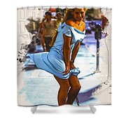 The Monroe Pose  Shower Curtain
