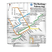 The Montreal Pubway Map Shower Curtain