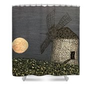 The Moon And The Windmill Shower Curtain