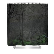 The Moon Over Guisecliff Shower Curtain