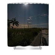 The Moonit Path To Fort Myers Beach Fort Myers Florida Shower Curtain